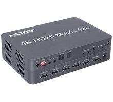 PremiumCord HDMI matrix switch 4:2 s audiem, rozlišení 4Kx2K - khswit42e