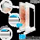 FIXED 3D Full-Cover ochranné tvrzené sklo pro Apple iPhone 7/8, bílé