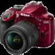 Nikon D3400 + AF-P 18-55 VR, červená  + Voucher až na 3 měsíce HBO GO jako dárek (max 1 ks na objednávku)
