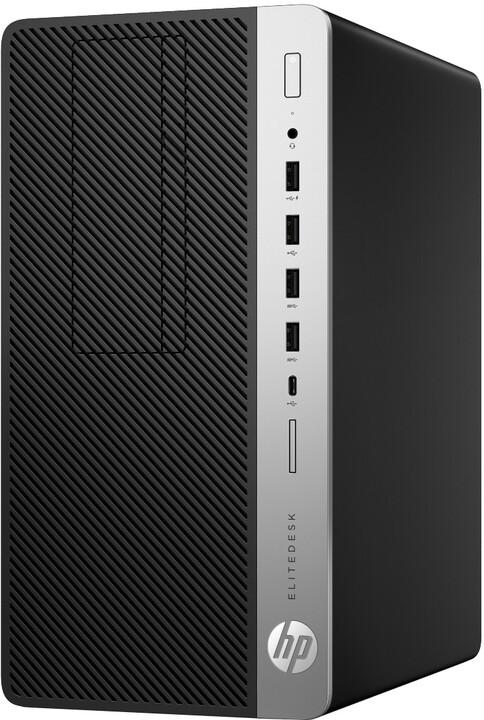 HP EliteDesk 705 G4 MT, černá