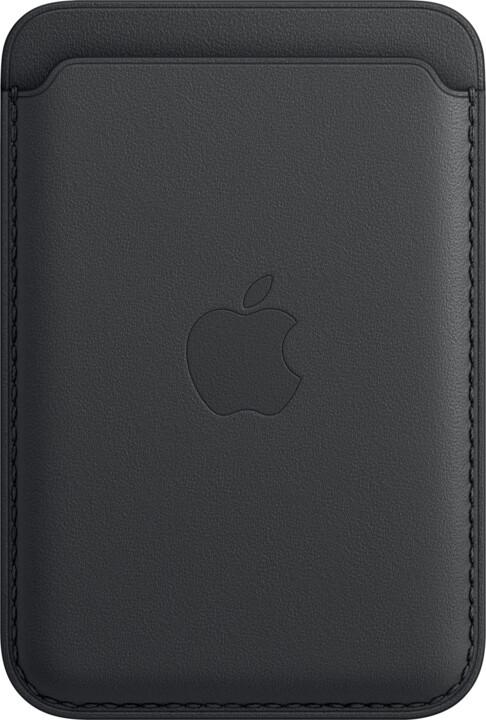 Apple kožená peněženka s MagSafe pro iPhone, černá