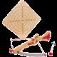Hračka Small Foot - Kuše s šípy a terčem, velká, dřevěná
