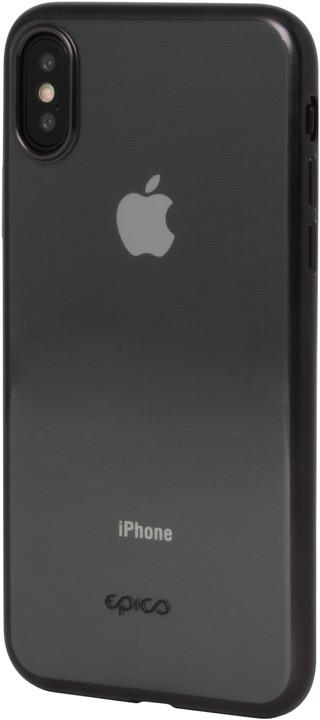 EPICO matt bright pružný plastový kryt pro iPhone X/iPhone XS, space grey