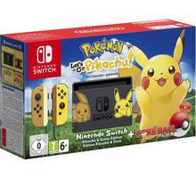 Nintendo Switch, černá/žlutá + Pokémon: Let's Go Pikachu + Poké Ball