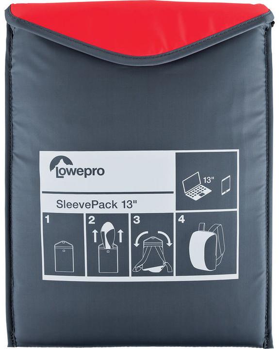 Lowepro SleevePack 13, červená/šedá