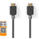 Kabel NEDIS CVBW34050AT20, HDMI 2.0, Ethernet, 2m, antracitový v hodnotě 529 Kč