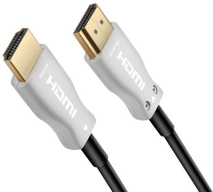 PremiumCord optický fiber High Speed with Ether. 4K@60Hz kabel 25m, M/M, zlacené konektory