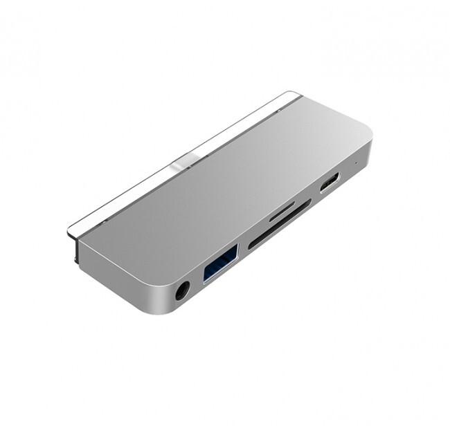 HyperDrive 6-in-1 USB-C Hub pro iPad Pro, stříbrná