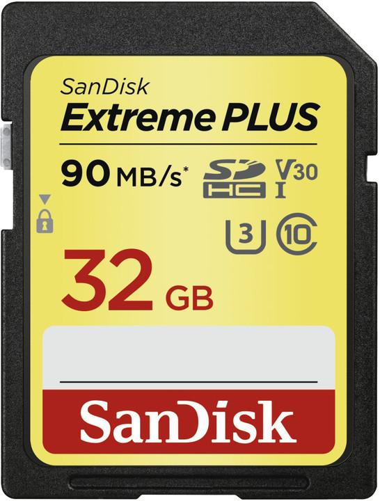 SanDisk SDHC Extreme Plus 32GB 90MB/s UHS-I U3 V30