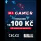 Voucher Be a Gamer - 10x 100 Kč (sleva na hry nad 999 Kč)