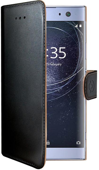 CELLY pouzdro typu kniha Wally pro Sony Xperia XA2 Ultra, PU kůže, černé