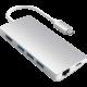 Satechi Type-C Multi-Port Adapter 4K Ethernet v2, stříbrná  + O2 TV s balíčky HBO a Sport Pack na 2 měsíce (max. 1x na objednávku)