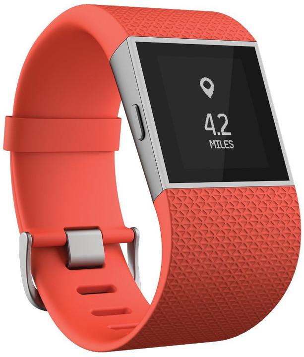 Fitbit Surge, S, oranžová