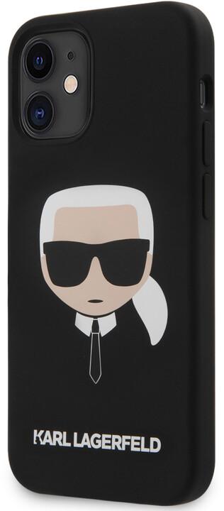 """KARL LAGERFELD silikonový kryt Head pro iPhone 12 Mini (5.4""""), černá"""