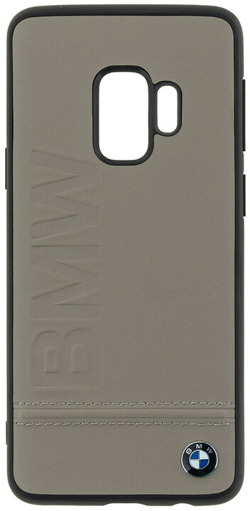 BMW Signature Real Leather Hard Case pro Samsung G960 Galaxy S9 - Taupe
