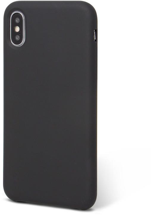 EPICO SILICONE zadní kryt pro iPhone X, černý