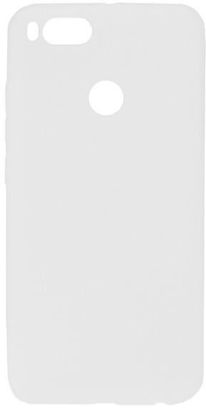 EPICO pružný plastový kryt pro Xiaomi Mi A1 SILK MATT - bílý transparentní