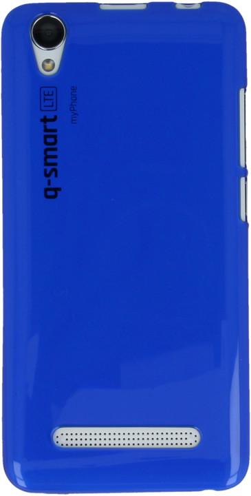 myPhone silikonové pouzdro pro Q-smart LTE, transparentní modrá
