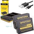 Patona nabíječka Foto Dual Quick Fuji NP-W126 + 2x baterie 1020mAh USB