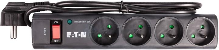 Eaton Protection Strip 4 FR, 4x zásuvka, vypínač, 1m