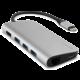 EPICO USB Type-C Hub Multi-Port 4k HDMI & Ethernet - silver/black