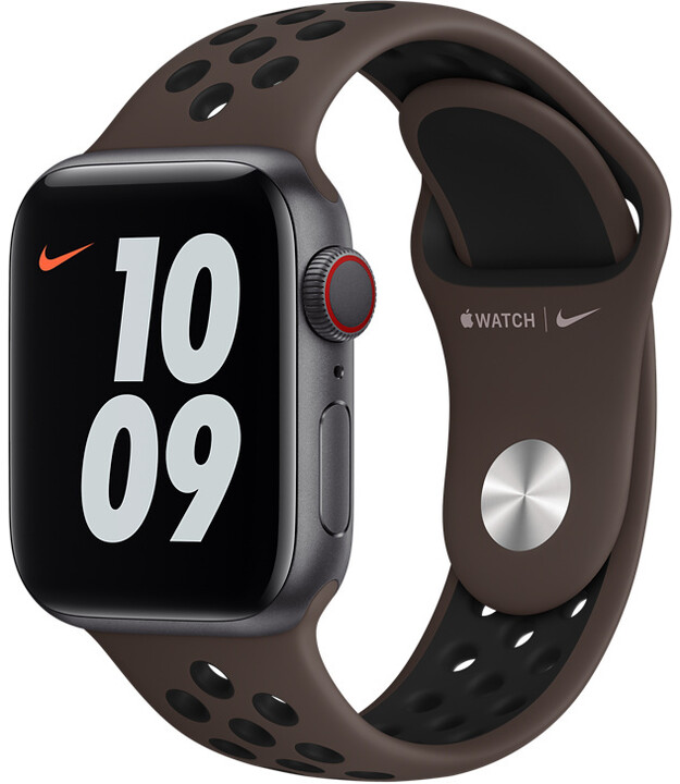 Apple řemínek Nike pro Watch Series, sportovní, 40mm, hnědá/černá