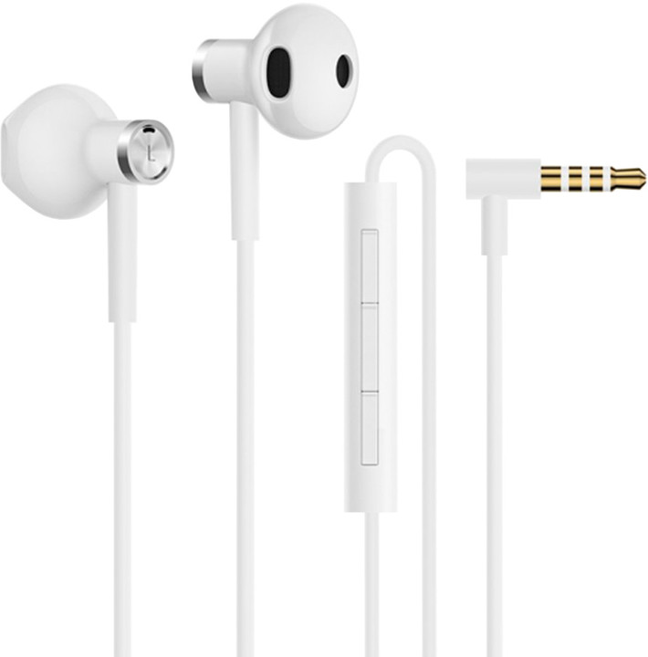 Xiaomi Mi Dual Driver Earphones, bílá