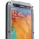 Love Mei Case Samsung GALAXY NOTE3 Three anti protective shell, waistline version, Silver+Black
