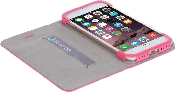 Krusell knížkové pouzdro malmo pro iPhone 7, růžová