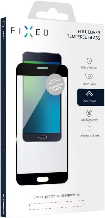 FIXED ochranné tvrzené sklo Full-Cover pro Honor 8A, lepení přes celý displej, černá