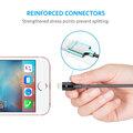 Anker PowerLine + Lightning kabel pro iPhone, délka 1,8m, s váčkem, šedá