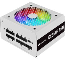 Corsair CX650F RGB - 650W, bílý