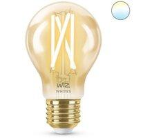 WiZ WZE21026011-A A60 E27, 2200K Dimmable Filament Amber Gen 2 - 500lm - WiFi