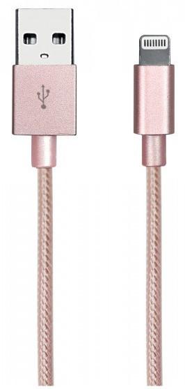 SBS Datový kabel Gold Collection Apple MFI, zlatá růžová