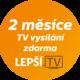 Lepší.TV na 2 měsíce zdarma v ceně 400 Kč
