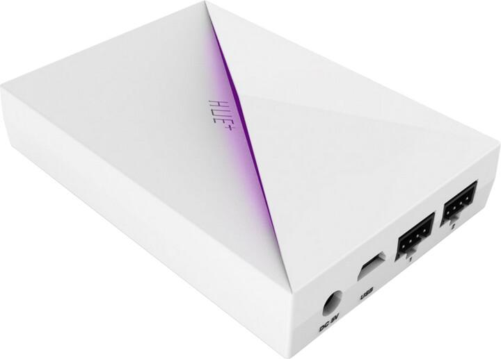 NZXT řídící panel podsvícení HUE+ / RGB LED/ regulace jasu, barvy a blikání/ bílá