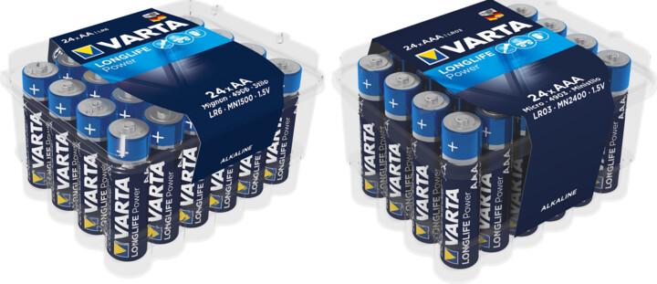 VARTA baterie Longlife Power 24 AA + VARTA baterie Longlife Power 24 AAA