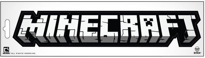 Samolepka - Minecraft logo