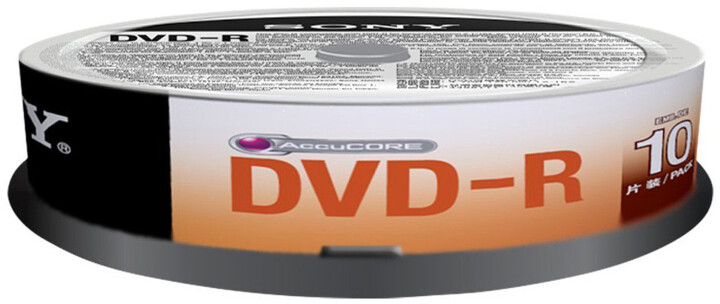 Sony DVD-R 4,7GB 16x Spindle, 10ks