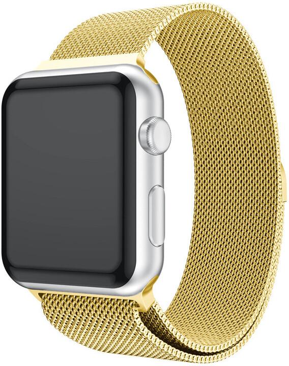 MAX náhradní řemínek MAS24 pro Apple Watch, 38/40mm, zlatá