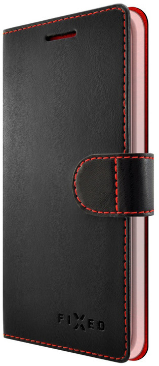 FIXED FIT pouzdro typu kniha pro Mobiola INTI, černé