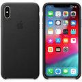 Apple kožený kryt na iPhone XS Max, černá