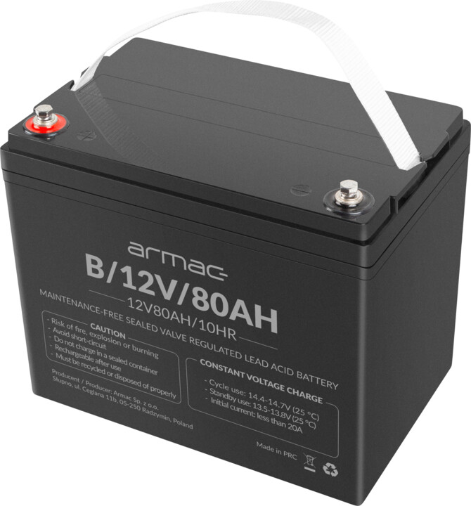 Armac náhradní baterie, 12V/80Ah