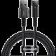 BASEUS kabel Tungsten Gold, USB-A - USB-C, M/M, rychlonabíjecí, datový, 66W, 1m, černá