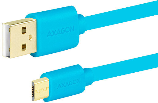AXAGON BUMM-AM02QL, 0.2 m, modrý