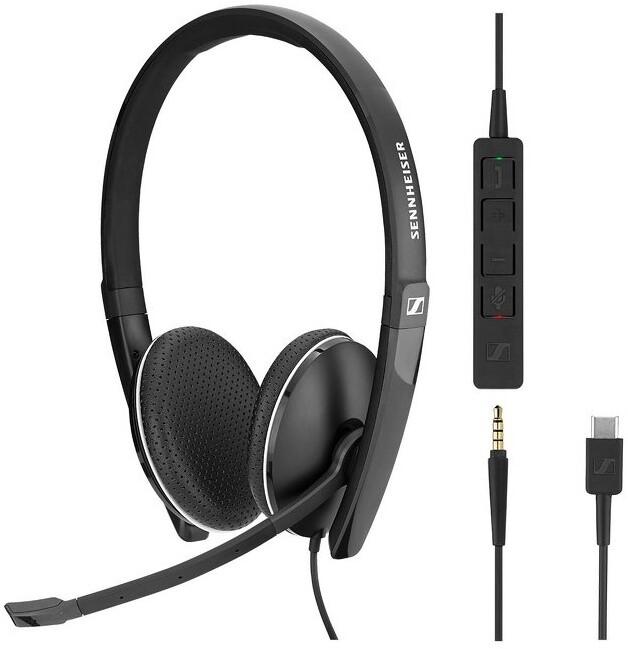 Sennheiser SC165 USB-C, černá