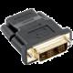 C-TECH adaptér HDMI - DVI, F/M, černá