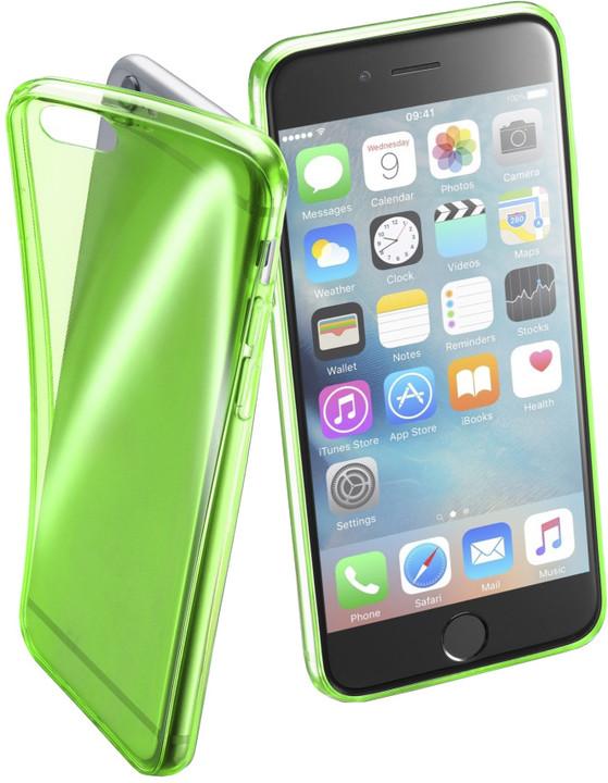 Cellularline FLUO barevné gelové pouzdro pro Apple iPhone 6/6S, zelené