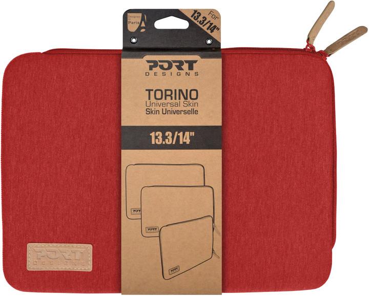 """Port Designs TORINO pouzdro na 13,3"""", červená"""