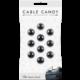 Cable Candy kabelový organizér Small Beans, 10 ks, černá